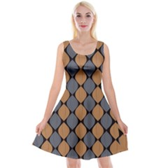 Abstract Seamless Pattern Reversible Velvet Sleeveless Dress