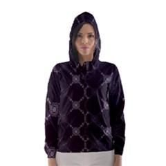 Abstract Seamless Pattern Hooded Wind Breaker (women)