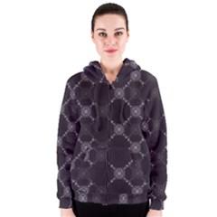 Abstract Seamless Pattern Women s Zipper Hoodie