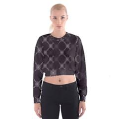 Abstract Seamless Pattern Women s Cropped Sweatshirt