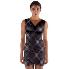 Abstract Seamless Pattern Wrap Front Bodycon Dress