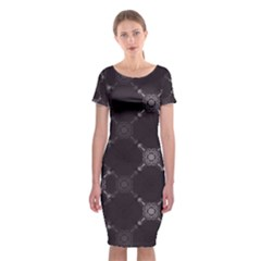 Abstract Seamless Pattern Classic Short Sleeve Midi Dress