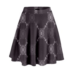 Abstract Seamless Pattern High Waist Skirt