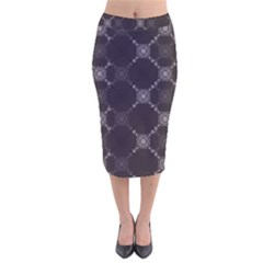 Abstract Seamless Pattern Velvet Midi Pencil Skirt