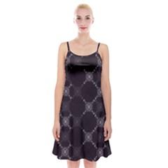Abstract Seamless Pattern Spaghetti Strap Velvet Dress