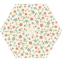 Abstract Vintage Flower Floral Pattern Mini Folding Umbrellas