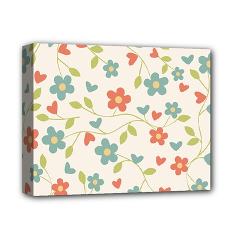 Abstract Vintage Flower Floral Pattern Deluxe Canvas 14  X 11