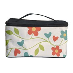 Abstract Vintage Flower Floral Pattern Cosmetic Storage Case