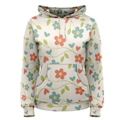 Abstract Vintage Flower Floral Pattern Women s Pullover Hoodie