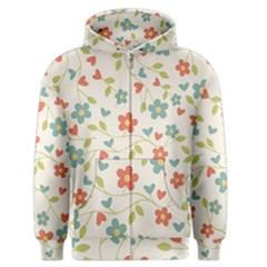 Abstract Vintage Flower Floral Pattern Men s Zipper Hoodie
