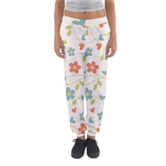 Abstract Vintage Flower Floral Pattern Women s Jogger Sweatpants