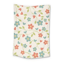 Abstract Vintage Flower Floral Pattern Small Tapestry