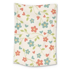 Abstract Vintage Flower Floral Pattern Large Tapestry