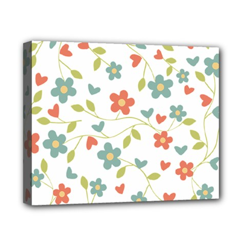 Abstract Vintage Flower Floral Pattern Canvas 10  X 8