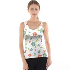Abstract Vintage Flower Floral Pattern Tank Top