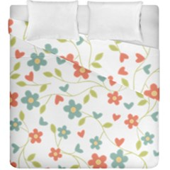 Abstract Vintage Flower Floral Pattern Duvet Cover Double Side (king Size)