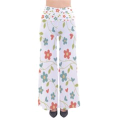 Abstract Vintage Flower Floral Pattern Pants