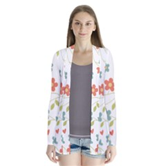 Abstract Vintage Flower Floral Pattern Cardigans