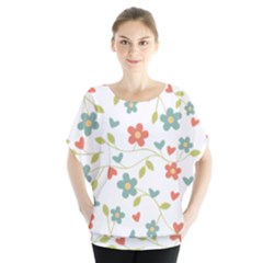 Abstract Vintage Flower Floral Pattern Blouse