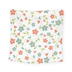 Abstract Vintage Flower Floral Pattern Square Tapestry (small)