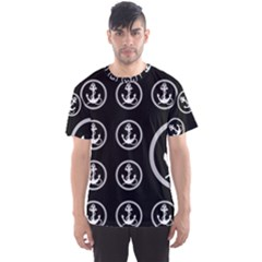 Anchor Pattern Men s Sport Mesh Tee