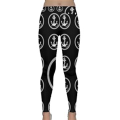 Anchor Pattern Classic Yoga Leggings