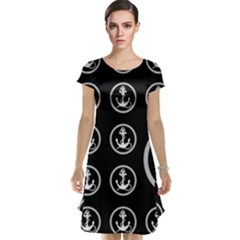 Anchor Pattern Cap Sleeve Nightdress