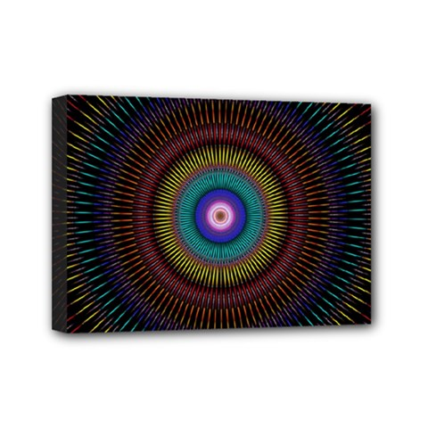 Artskop Kaleidoscope Pattern Ornamen Mantra Mini Canvas 7  X 5