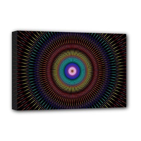 Artskop Kaleidoscope Pattern Ornamen Mantra Deluxe Canvas 18  X 12