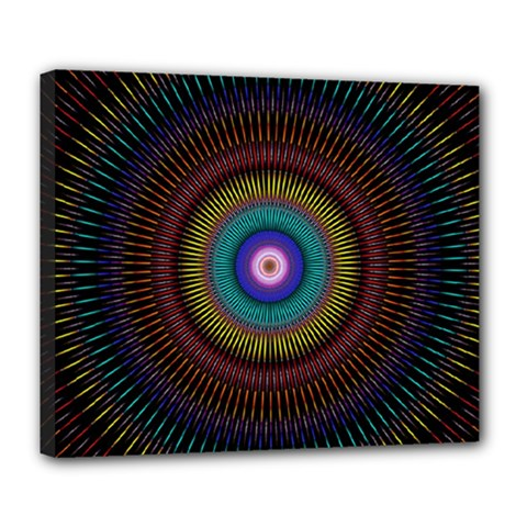 Artskop Kaleidoscope Pattern Ornamen Mantra Deluxe Canvas 24  X 20