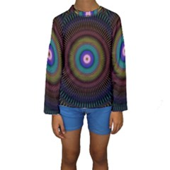 Artskop Kaleidoscope Pattern Ornamen Mantra Kids  Long Sleeve Swimwear