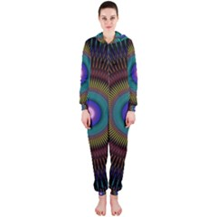 Artskop Kaleidoscope Pattern Ornamen Mantra Hooded Jumpsuit (ladies)