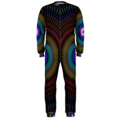 Artskop Kaleidoscope Pattern Ornamen Mantra Onepiece Jumpsuit (men)
