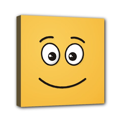 Smiling Face with Open Eyes Mini Canvas 6  x 6