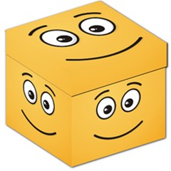 Smiling Face With Open Eyes Storage Stool 12
