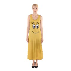 Smiling Face with Open Eyes Sleeveless Maxi Dress