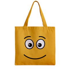 Smiling Face with Open Eyes Grocery Tote Bag