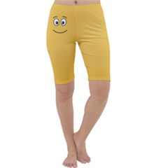 Smiling Face with Open Eyes Cropped Leggings
