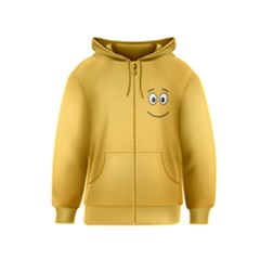 Smiling Face With Open Eyes Kids  Zipper Hoodie