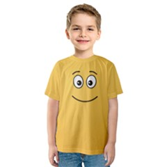 Smiling Face with Open Eyes Kids  Sport Mesh Tee
