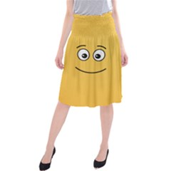 Smiling Face with Open Eyes Midi Beach Skirt