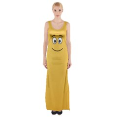 Smiling Face with Open Eyes Maxi Thigh Split Dress