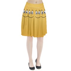Smiling Face with Open Eyes Pleated Skirt