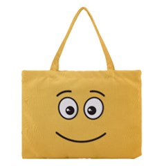 Smiling Face with Open Eyes Medium Tote Bag