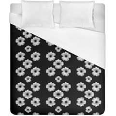 Dark Floral Duvet Cover (California King Size)