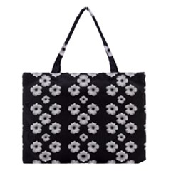 Dark Floral Medium Tote Bag