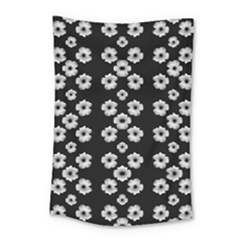 Dark Floral Small Tapestry