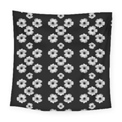 Dark Floral Square Tapestry (Large)