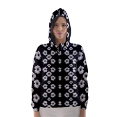 Dark Floral Hooded Wind Breaker (Women)