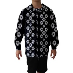 Dark Floral Hooded Wind Breaker (Kids)